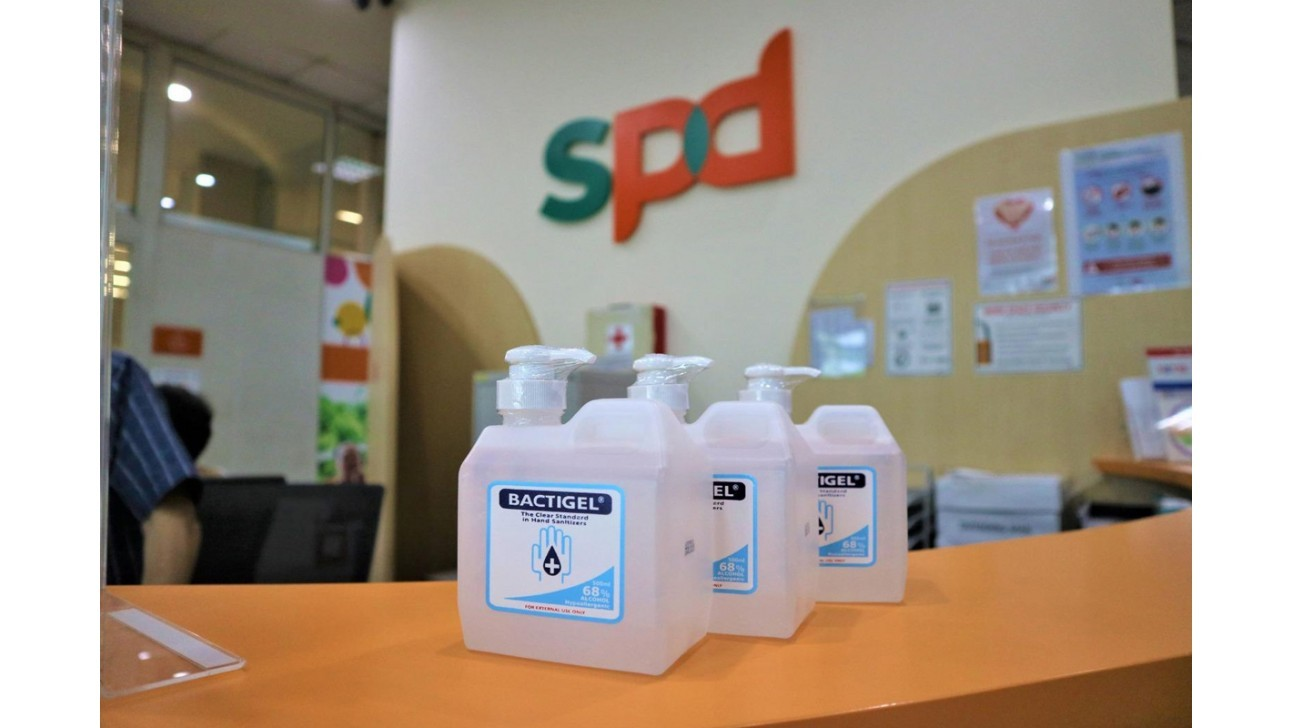 Bactigel hand sanitizers for SPD Singapore